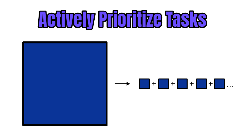 Actively Prioritize Tasks