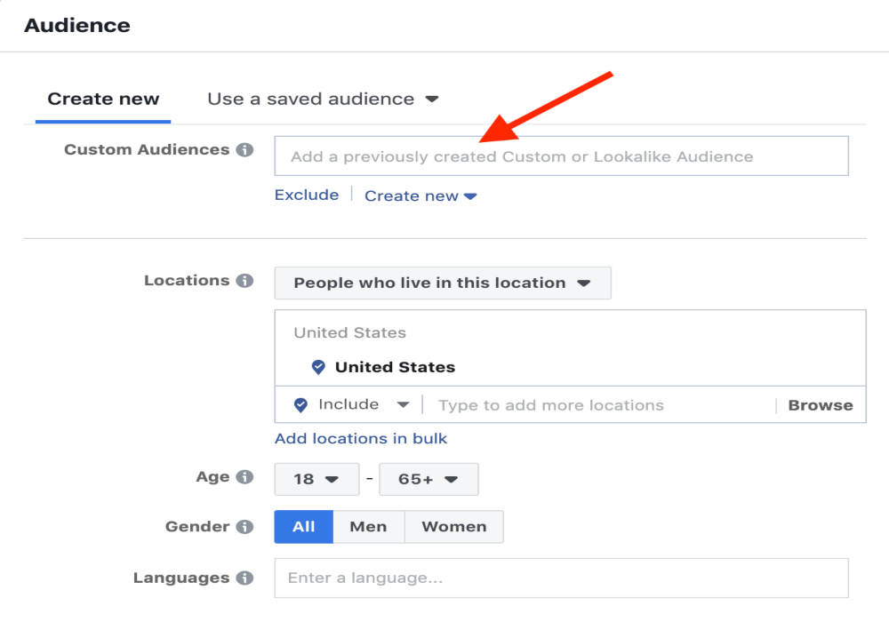 Use Audience Tool When Creating Facebook Paid Ads